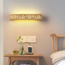 contemporary sconce led wall lights lighting fixtures wood