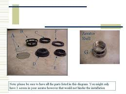 Bathroom Faucet Aerators How To Assemble An Aerator