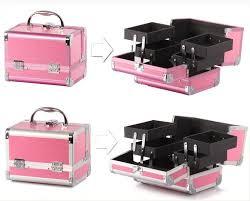 Box Makeup large professional aluminum makeup box 10 colors