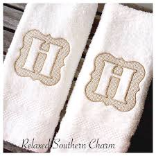 Decorative Hand Towels For Powder Room - best 25 monogrammed hand towels ideas on pinterest monogrammed
