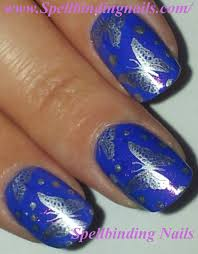 free hand nail art toturial fantasy butterflies spellbinding nails february 2012