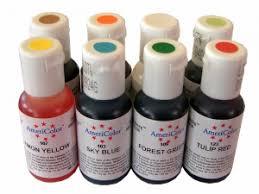 set 8 colores americolor soft gel paste 8x19ml colorantes