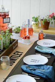personalized serving plates outdoor table setting with shutterfly the idea room