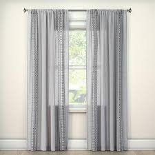 Embroidered Curtain Panels Gray Ombre Embroidery Curtain Panel