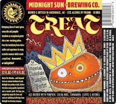Midnight Sun TREAT Imperial Chocolate Pumpkin Porter | BeerPulse