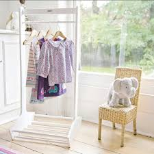 nursery decor jojo maman bebe white clothes rail