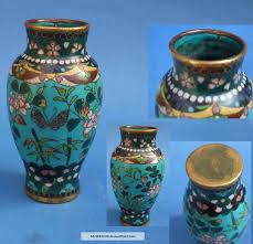 Antique Cloisonne Vases 19th C Cloisonne Vase With Butterflies U0026 Flowers Antique