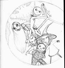 nightmare before christmas coloring pages nightmare before
