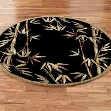 Tropical Area Rugs Fashionable Round Area Rugs Sage Garden Floral Rug Wool Material