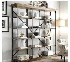 Steel Frame Bookcase Rustic Metal And Wood Shelving Industrial Wood Steel Pipe Cast