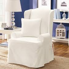 white wing chair slipcover furniture white wing chair slipcovers chair covers ideas