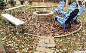 build a backyard fire pit diy backyard campfire fire pit our fifth house
