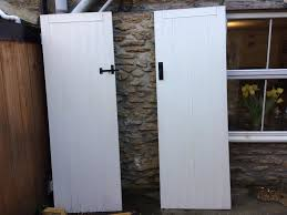 2 cottage stable style interior doors painted white x2 in frome