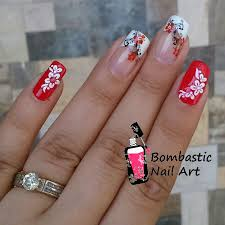 flower nail art on french manicure u2013 popular manicure in the us blog