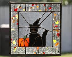 Halloween Home Decorating Halloween Home Decor Halloween Home Decor Catstained Glass Window