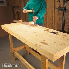 Old Woodworking Benches For Sale by How To Build A Diy Workbench Super Simple 50 Bench Family Handyman