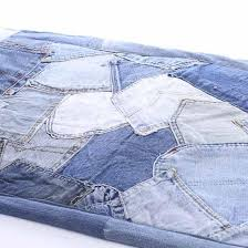 patchwork denim jean rug textiles and linens home decor