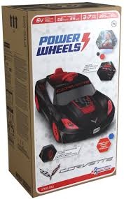 barbie corvette remote control power wheels 6v corvette ride on black walmart com
