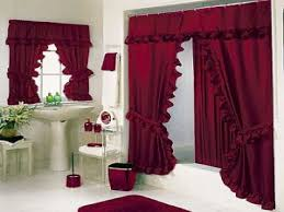 Luxury Bold Red Bathroom Shower Curtains Sets Red Shower Curtain