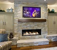 Fireplace With Music by Linear Fireplace With A Flat Screen Tv On Top Linear Fireplace