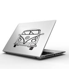 vw camper van decal for macbook by vinyl revolution vw camper van decal for macbook