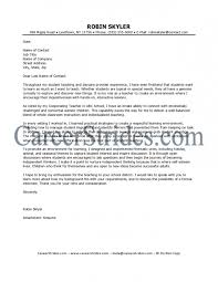 new sample cover letter for teaching position with experience 43