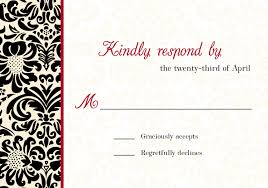 black and ivory wedding invitations mkaydesigns black red white and ivory damask invitation