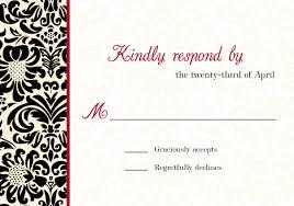 mkaydesigns black red white and ivory damask invitation