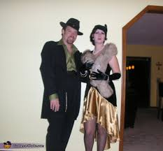 Gangster Costumes Halloween 1920 U0027s Flapper Gangster Halloween Costume Ideas Couples