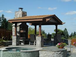 Pool Pergola Ideas by Pergola And Patio Ideas In The Backyard Of Stone House Completed