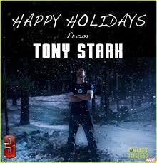 robert downey jr happy holidays from tony stark photo 2781346