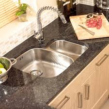 kitchen modern under mount primary sink with stainlesss faucet