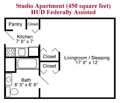 Studio Apartment Floor Plans by Floor Plans The Park Danforth Independent Living Portland Maine