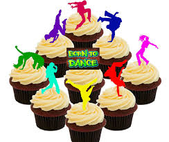 born to dance street dancing hip hop edible cupcake toppers