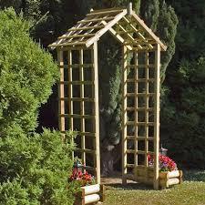 malvern wooden trellis garden arch internet gardener