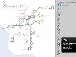Metro Gold Line Map by Watch The Los Angeles Metro Rail Map U0027s Spectacular Growth From