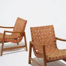 151 jens risom lounge chairs model 652 w pair u003c american