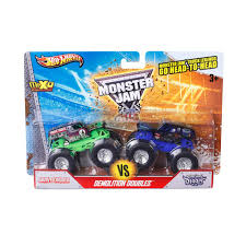large grave digger monster truck toy wheels monster jam 1 64 scale demo doubles 2 pack grave