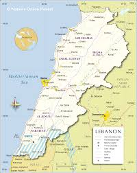 Map Of Al Political Map Of Lebanon Nations Online Project