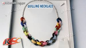 making necklace chain images Diy how to make paper quilling necklace jk arts 556 jpg