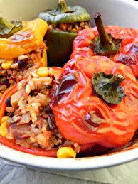 cuisine vegan stuffed peppers