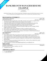 Commercial Manager Resume Bank Branch Manager Resume The Best Resume