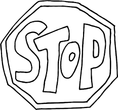 free printable stop sign clipart image 943