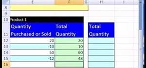 Microsoft Excel Inventory Template How To Create An Excel Inventory Template With Running Totals