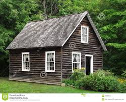 Rustic House Small Rustic Wood House In Trees Royalty Free Stock Photography