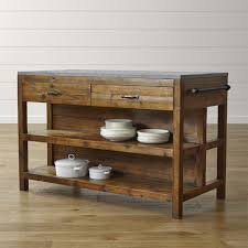 large rolling kitchen island bluestone reclaimed wood large kitchen island crate and barrel