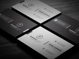 clean minimalistic business card template free download cp00019