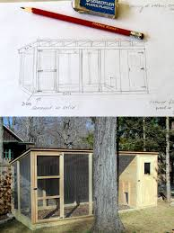 makin it with frankie building a duck house my sketch for the duck house design and the final building