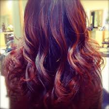 tag black hair with red and purple highlights hairstyle picture