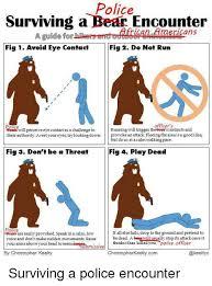 Running Bear Meme - police surviving a bear encounter cans a guide for fig 1 avoid eye